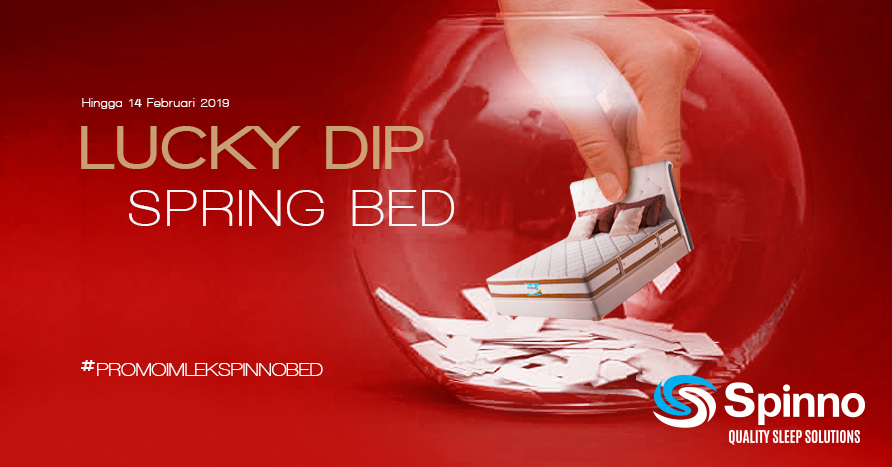 Promo Spesial Lucky Dip Spinno Spring bed SP Mattress Surabaya
