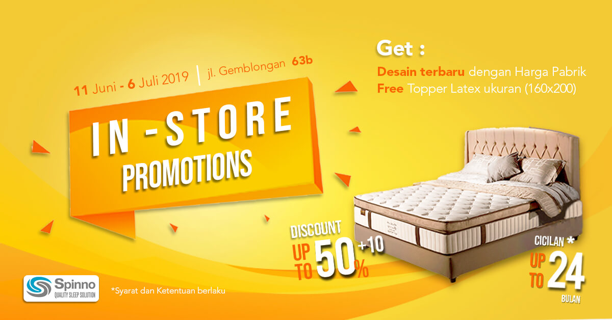 In-Store Promotions Spring Bed Spinno SP Mattress