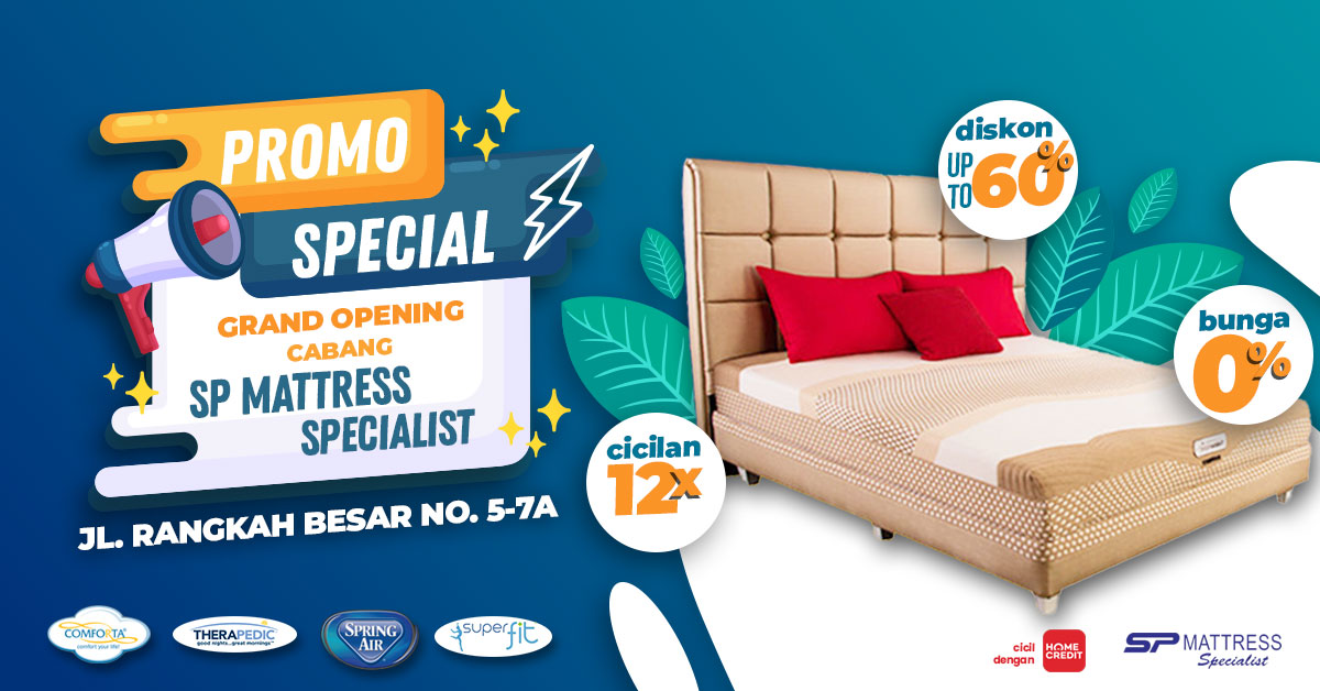 Promo Spring Bed Spesial Grand Opening Cabang SP Mattress Specialist
