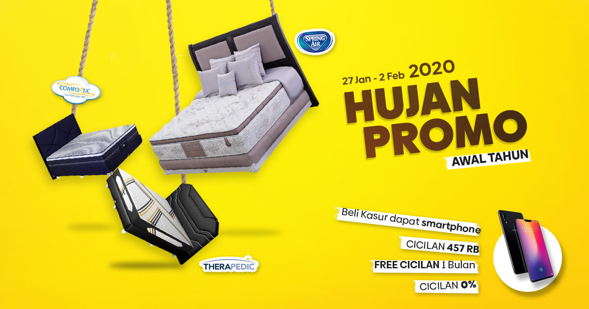 Promo in Store Matras Comforta, Spring Air dan Therapedic