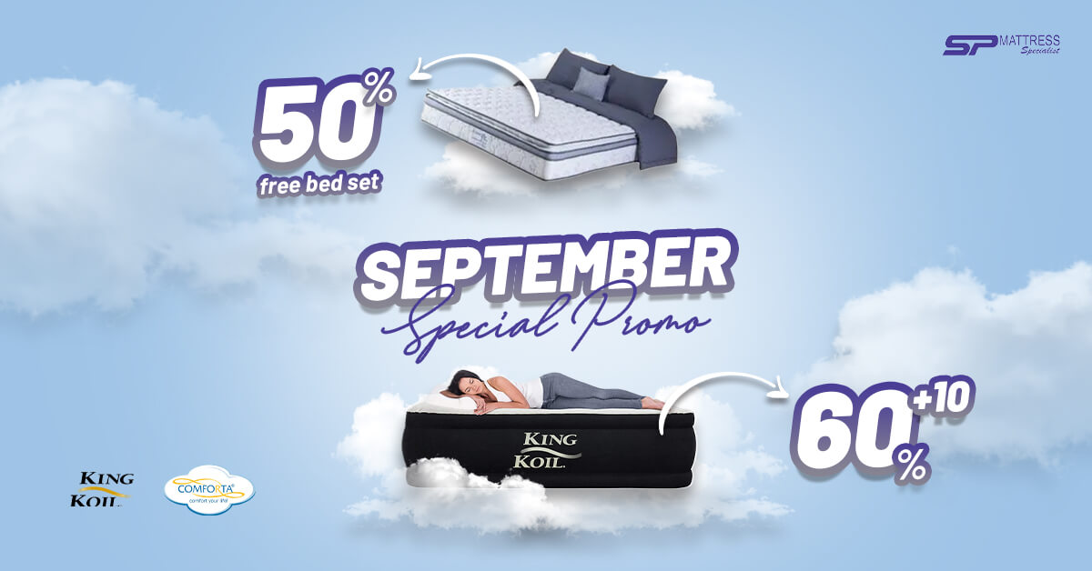 Promo Matras King Koil dan Comforta Special September