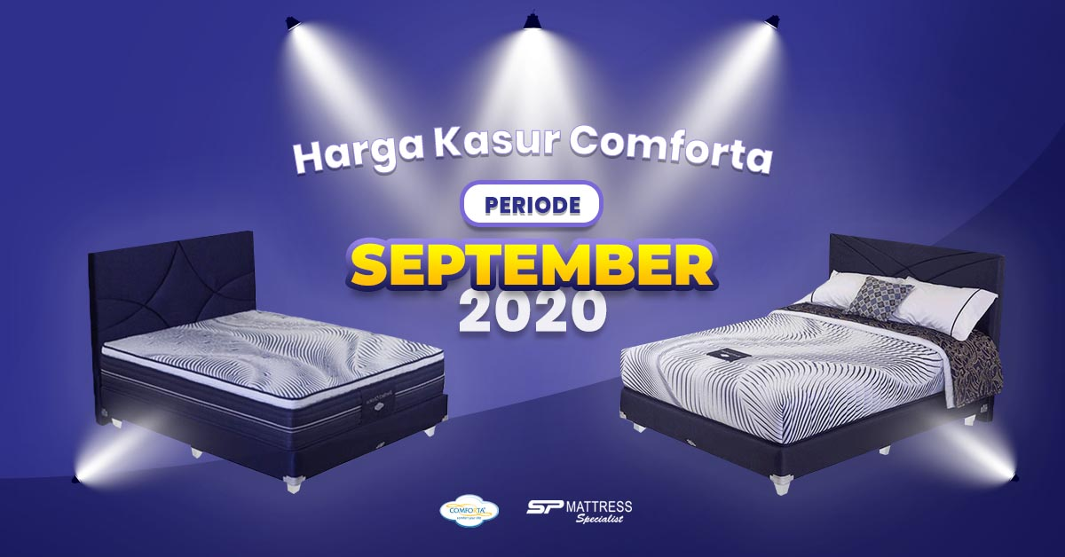 Harga Matras Comforta Bulan September 2020 di SP Mattress