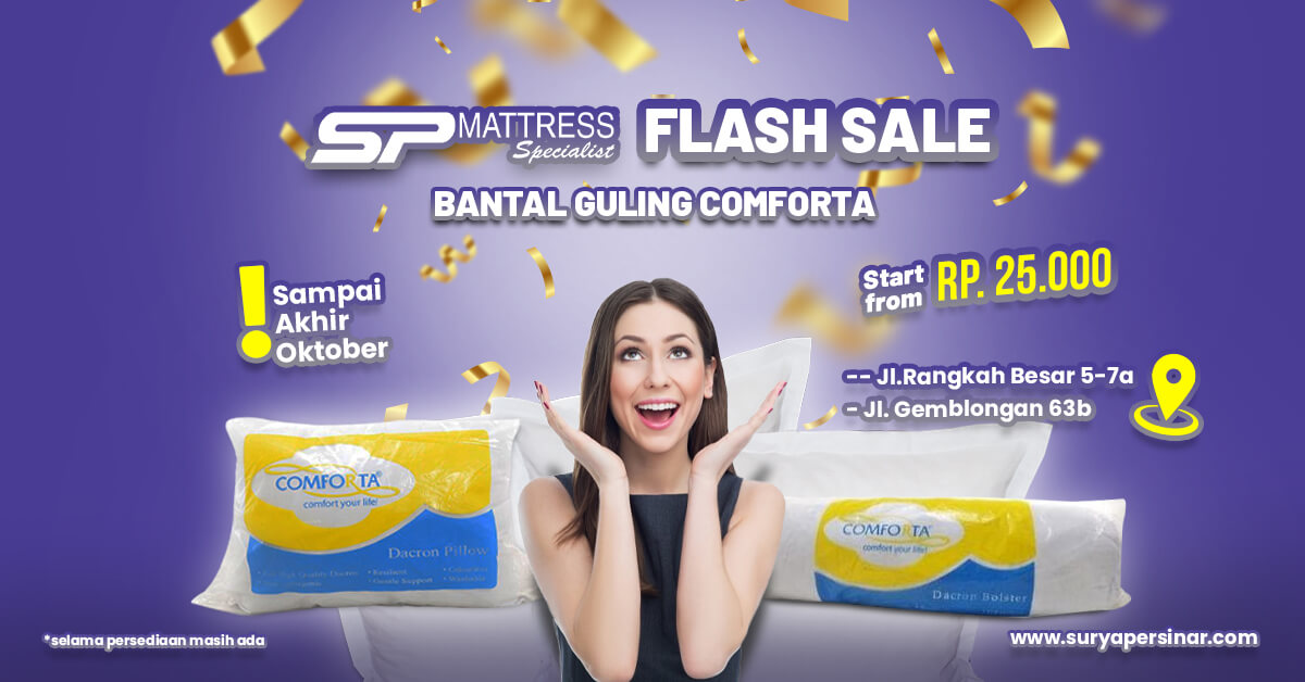 Promo Oktober Flash Sale Bantal dan Guling Comforta