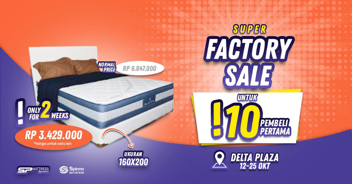 Pameran Spring Bed Spinno SP Mattress Surabaya