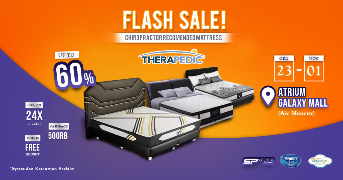 Promo Flash Sale! Pameran SP Mattress di Galaxy Mall 1 Surabaya!