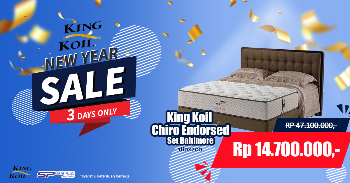 Promo King Koil Chiro Endorsed SP Mattress